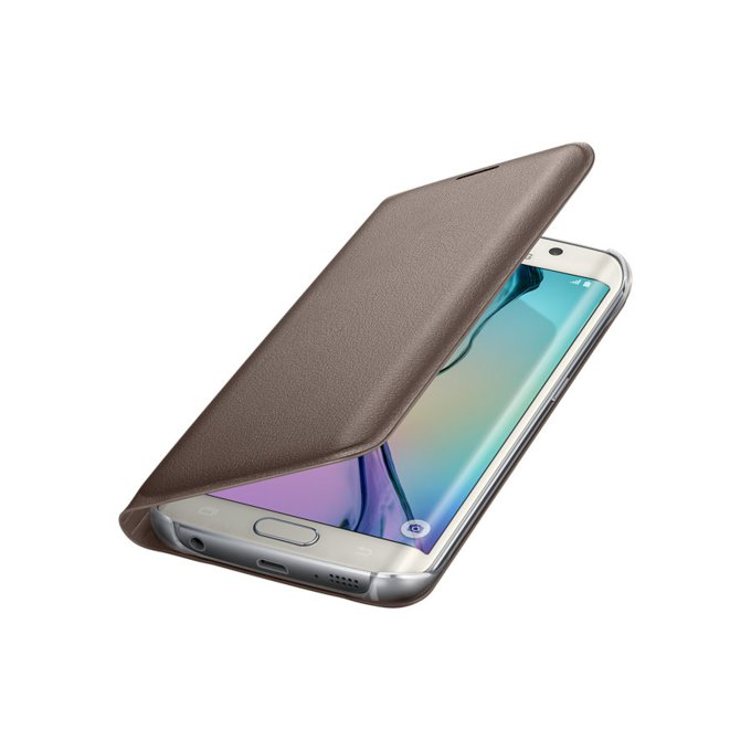 Etui flip wallet do Galaxy S6 Edge, złote (EF-WG925PFEGWW)