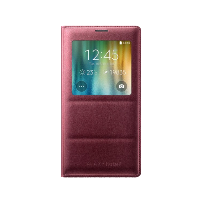 etui S View cover do Galaxy  Note 4 śliwkowy   (EF-CN910BREGWW)