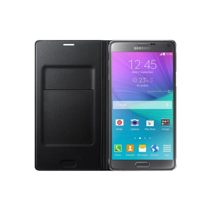 Galaxy Note 4 Flip Wallet (Classic Edition) czarny   (EF-WN910FKEGWW)