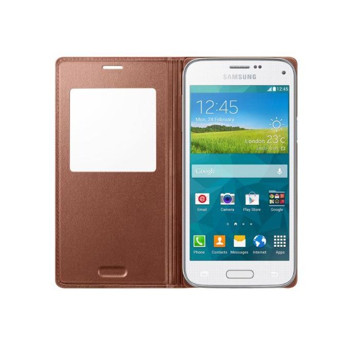 Galaxy S5 mini S View Cover różowo-złoty  (EF-CG800BFEGWW)