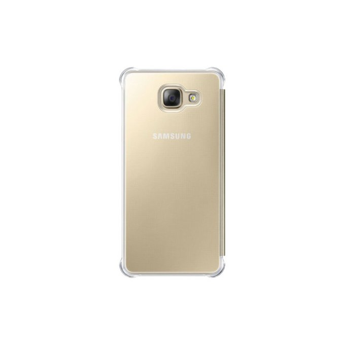 Etui clear view cover do Galaxy A5, złote (EF-ZA510CFEGWW)