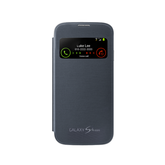 Galaxy S4 Mini S-View Cover Czarny (EF-CI919BBEGWW)