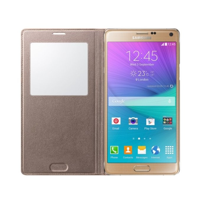 etui S View cover do Galaxy Note 4 camel (EF-CN910BEEGWW)