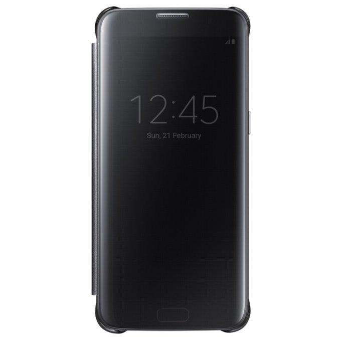 Etui clear view cover do Galaxy S7 Edge, czarne (EF-ZG935CBEGWW)