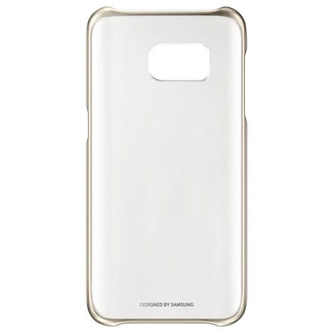 Etui clear cover do Galaxy S7, złote (EF-QG930CFEGWW)
