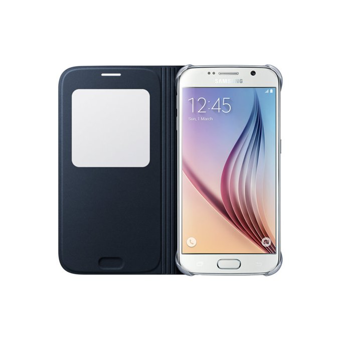 Galaxy S6 S View Cover (Fabric) Czarny (EF-CG920BBEGWW)