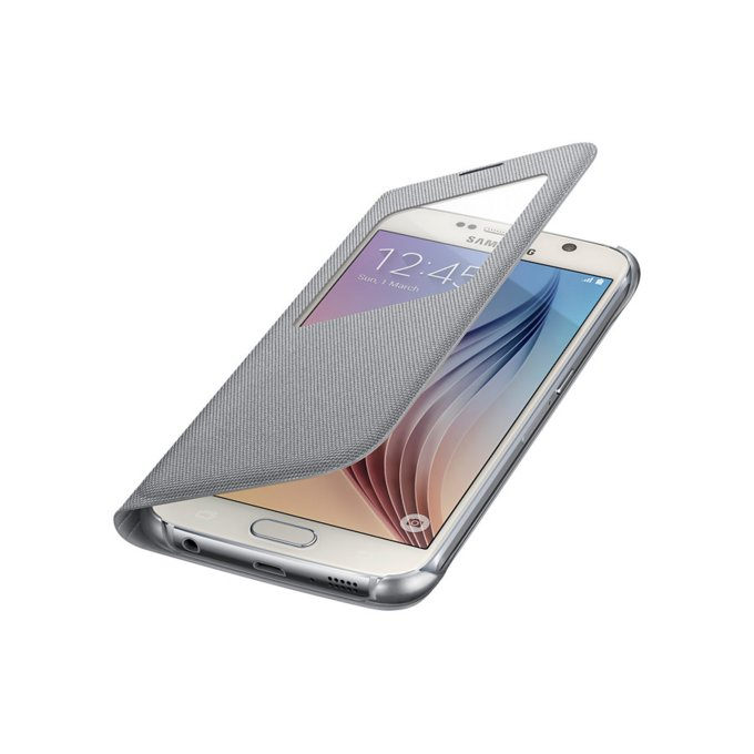 Galaxy S6 S View Cover (Fabric) Srebrny (EF-CG920BSEGWW)