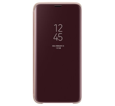 Etui Clear View Standing Cover do Galaxy S9, złote (EF-ZG960CFEGWW)