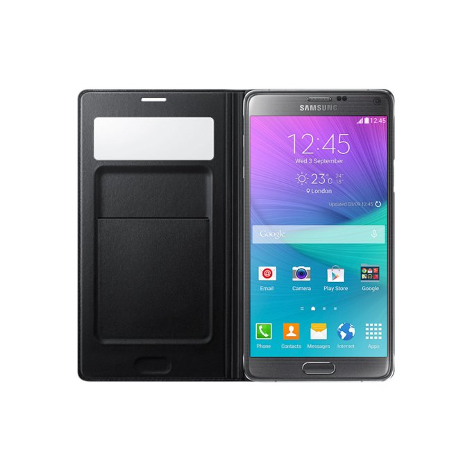 Etui S View Wallet do Galaxy Note 4 Czarne (EF-EN910FKEGWW)