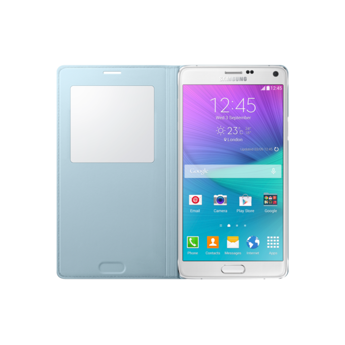 Galaxy note 4 S View Cover Mint   (EF-CN910BMEGWW)
