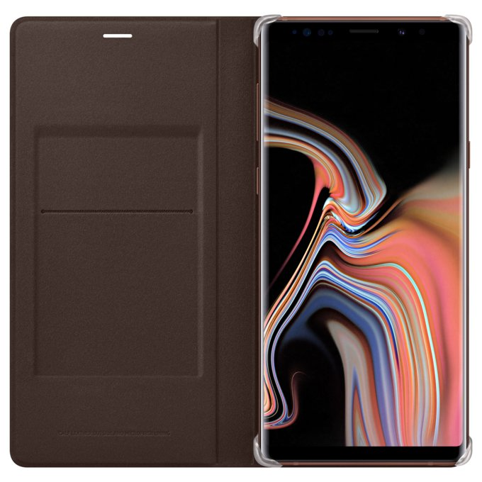 Etui Leather View Cover do Galaxy Note9, brązowe (EF-WN960LAEGWW)