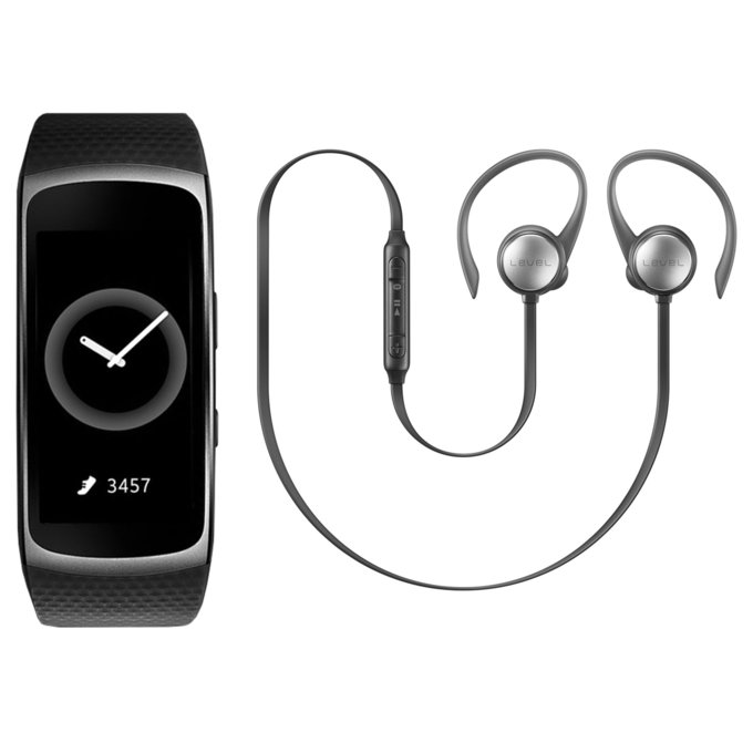 Gear fit 2 + Level Active Earphone (EO-BG930CB_SM-R3600DAA)
